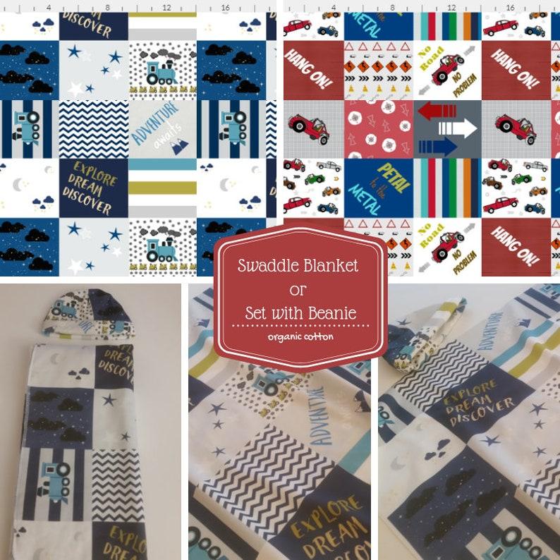 4f97e140607 Organic Newborn Swaddle Receiving Blanket / Hat Double Gauze | Etsy