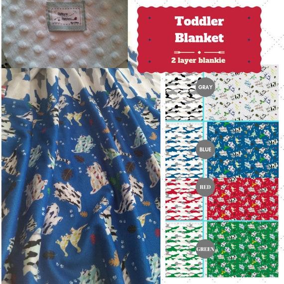 Toddler / Baby Blanket / Sham - Dinosaur Camo  - organic cotton,minky blanket, Kids Blanket