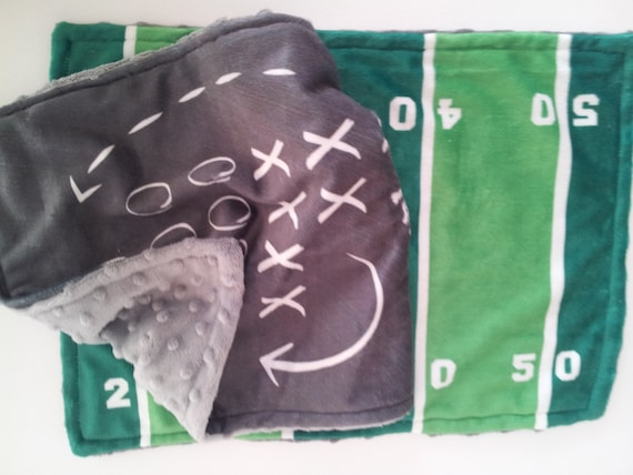 READY to SHIP LOVIE Set - Football Game Plan - minky baby lovie, Newborn Baby Boy Gift Set