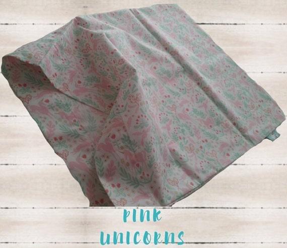 In Stock - Pillow Case 12x16 - Magical Unicorn Nursery Decor, Girl Bedding