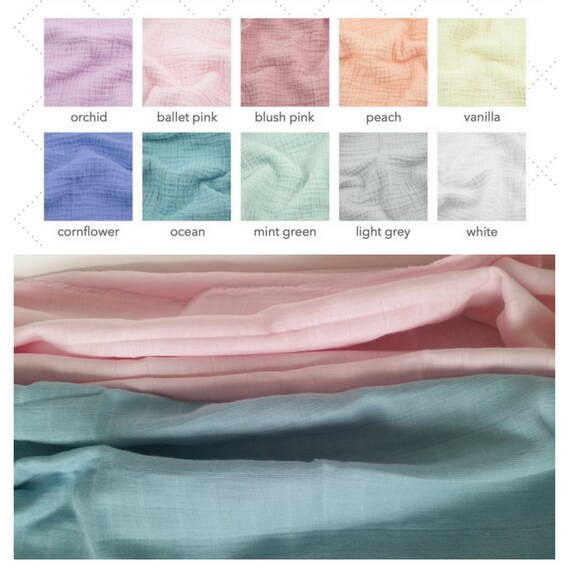 2 Layer Double Gauze Solid Color Muslin Blanket - Newborn / Baby  / Toddler Blanket - Spring Summer Solids