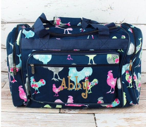 Duffle Bag 20 inch  - Can PERSONALIZE Rosy Roosters Weekender Duffle Bag |  Hospital Overnight Bag, Baby Bag, New Mom Bag