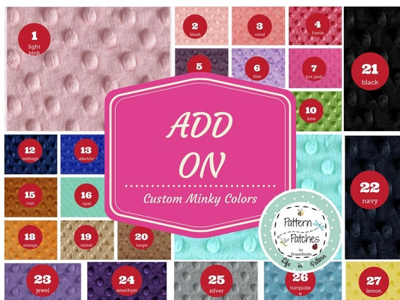 ADD ON - change minky color on your blanket