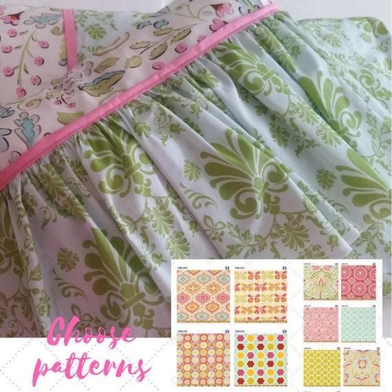 Toddler Ruffle Fancy Skirt Pillow Sham 12x16 - Kumari Garden Designer Fabric, Nursery Decor, Tropical, Moroccan Bedding, Shabby Chic