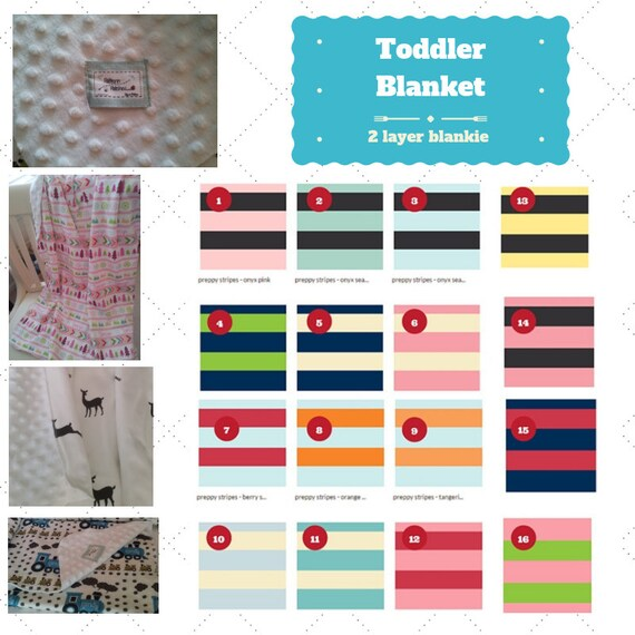 Toddler / Baby Blanket / Sham - Preppy Nautical Stripes Colors2- organic cotton,minky blanket, 24x32 Newborn, 32x50 Toddler Kids Blanket