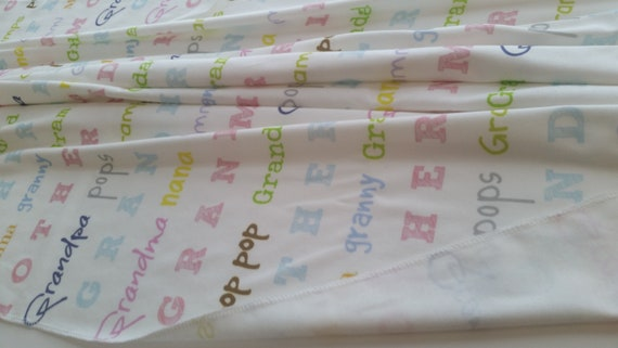 IN Stock Grandparents Organic Cotton Blanket, Pregnancy Announcement Gift, New Baby, Nana, Grandpa, Grandma, Pop pop
