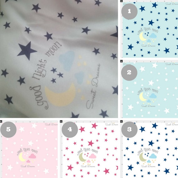 Newborn Swaddle Set, 5 colors - Organic Cotton Baby Boy Baby Girl Blanket, Hat, Headband, Hospital Blanket - Good Night Moon Sweet Dreams