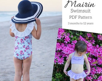 Children's Mairin Swimsuit PDF Sewing Pattern