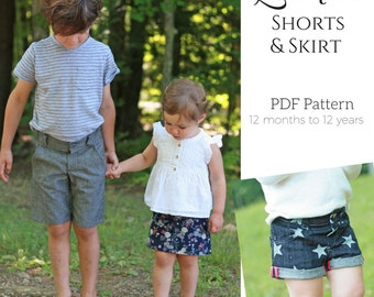 Linden Shorts and Skirt PDF Sewing Pattern