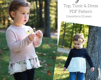 Blythe Top, Tunic & Dress PDF Sewing Pattern