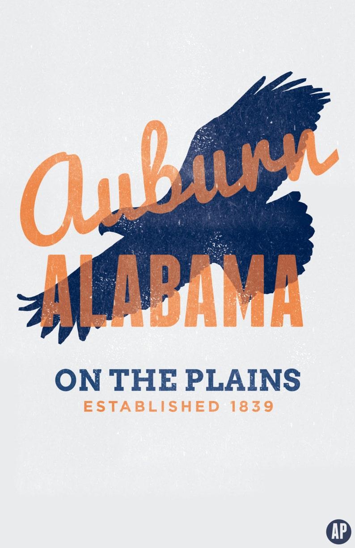 Auburn, Alabama Collegiate Printable Home Decor (Digital)