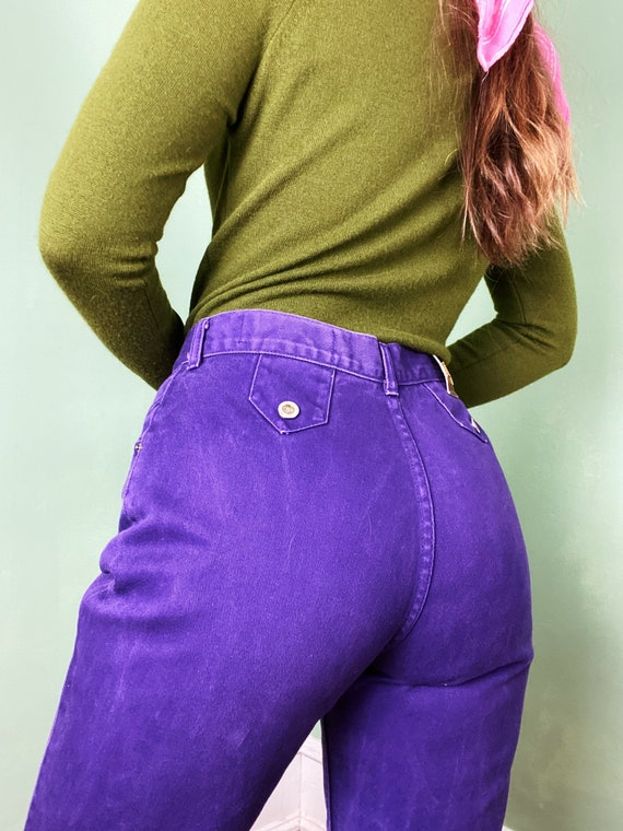 vintage high waisted electric purple studded lawma