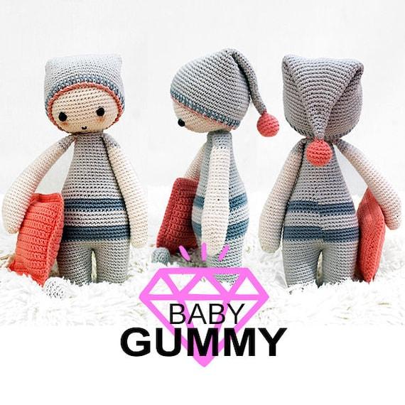 AMIGURUMI PATTERN. Baby Gummy Dormilón. Patrón de crochet / | Etsy
