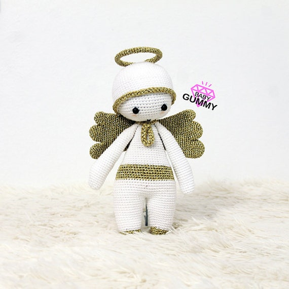 Angel Crochet Pattern Angel Amigurumi Doll | Etsy | Banquinho de ... | 570x570