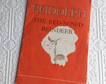 Early Montgomery Ward Printing of Rudolph the Red-Nosed Reindeer