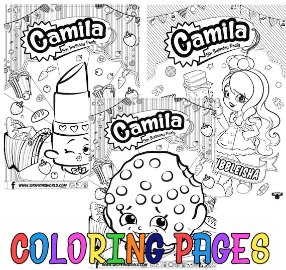 Personalized Shopkins Coloring Pages | Etsy
