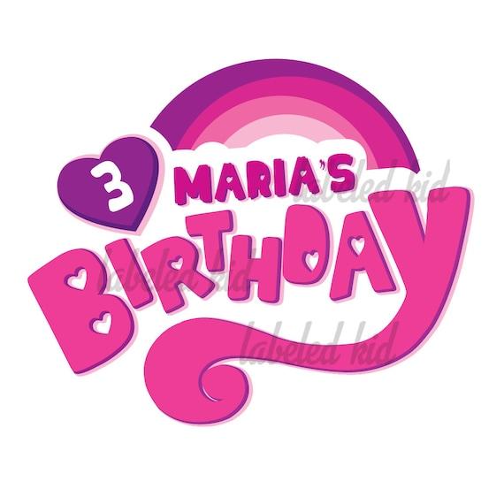 Personalized My Little Pony Logo For Birthdays Transfer Ons Etsy