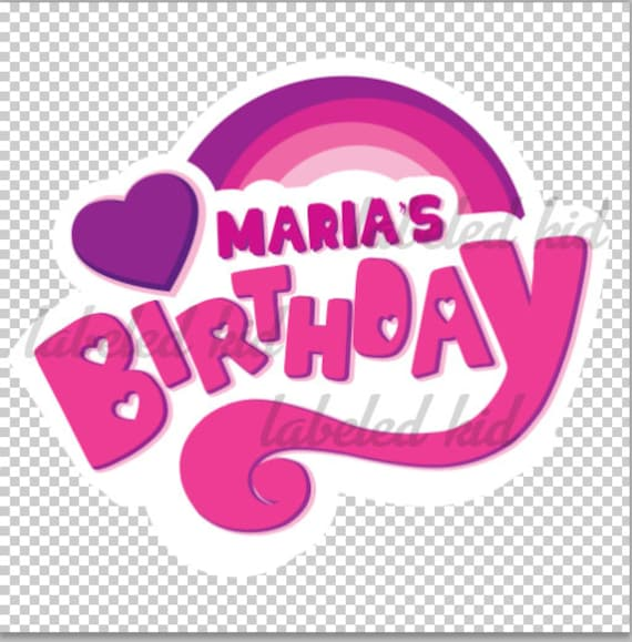 Personalized My Little Pony Logo for Birthdays, transfer ons , cake  toppers, and much more!