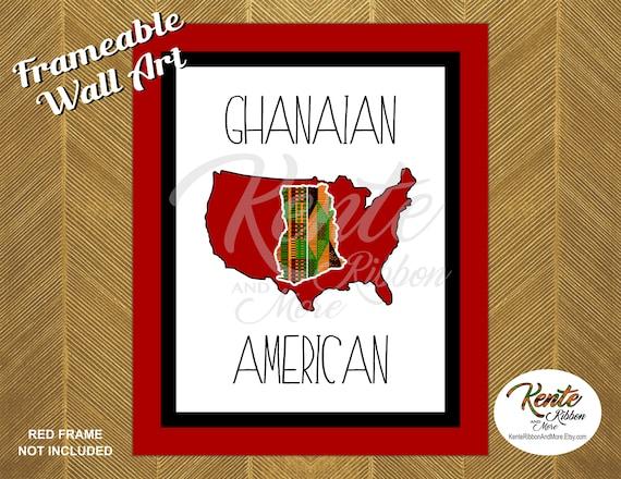 Diy Printable Kente Ghana Inside Usa Wall Art 3 Sizes Etsy