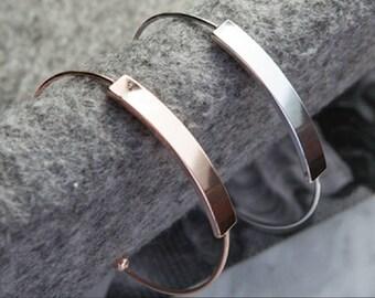 Minimalist Adjustable Bracelet- Silver or Gold