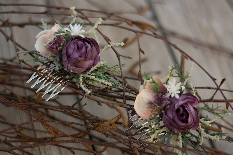 Flower hair comb wedding hair comb