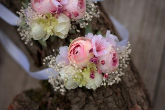 Blumen Armband Hochzeit Handgelenk Corsage Etsy