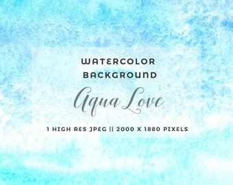 Abstract Watercolor Background Aqua Teal Blue Watercolour Texture Scrapbook Paper Wedding Invitation Card Website