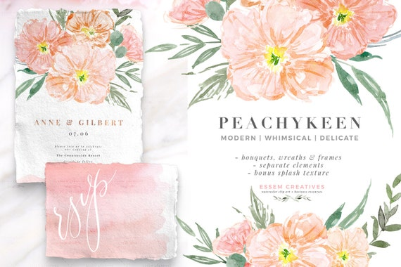 Pink Watercolor Flowers Clipart Blush And Sage Romantic Floral Wedding Clipart Watercolor Background Whimsical Dainty Digital Graphics