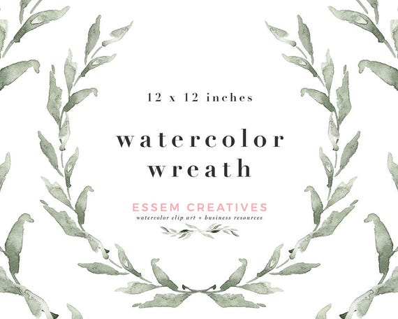 Watercolour Wreath PNG Rustic Clipart Leaves Frame