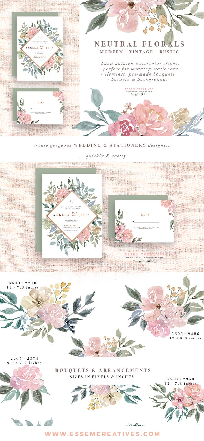 Image 0: Wedding Invitations With Flowers At Websimilar.org