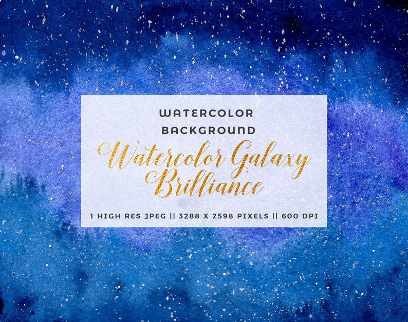 Ombre Blu Navy Clipart Sfondo Acquerello Galassia Nebulosa Etsy