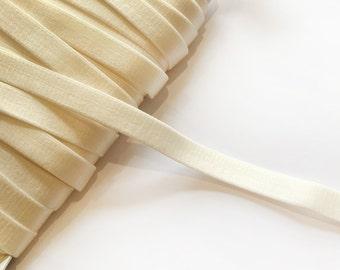 Cream Bra Strap Elastic - 2 m / 14 mm - Lingerie Elastics