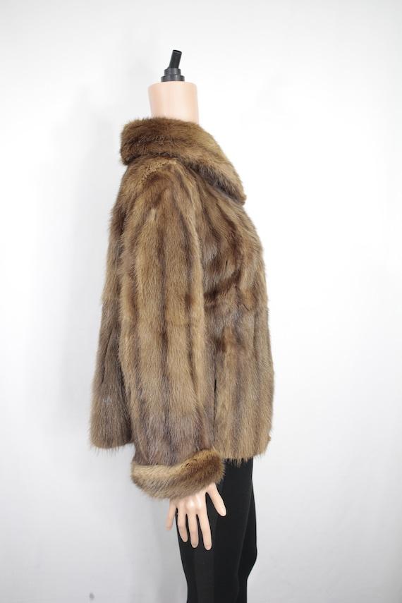 1950s-1960s brown musquash fur coat {Vintage fur … - image 4
