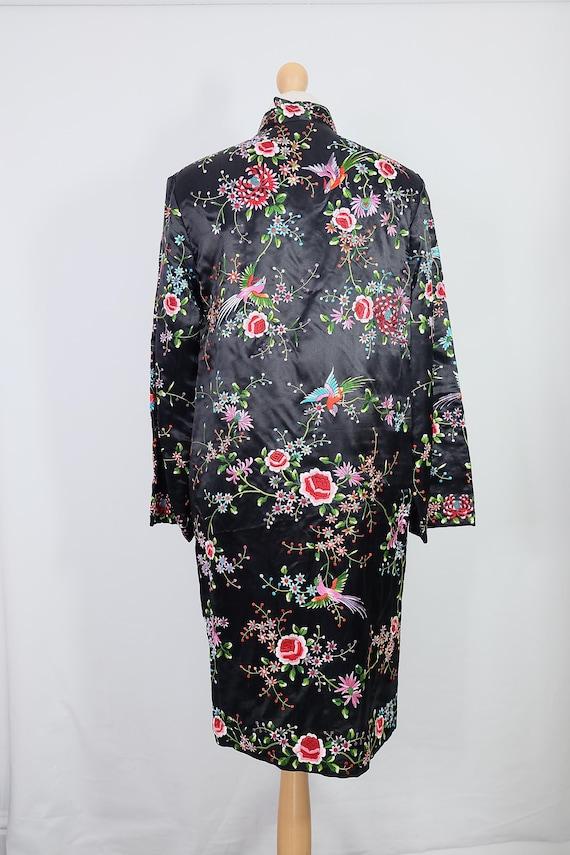 Vintage black embroidered coat {vintage embroider… - image 4