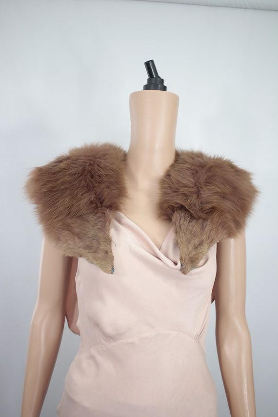 1930s-1940s burgundy fox fur collar {Vintage fox furreal fox furfox fur stolefox fur scarfox fur wrapfox fur shawlfox fur trim}