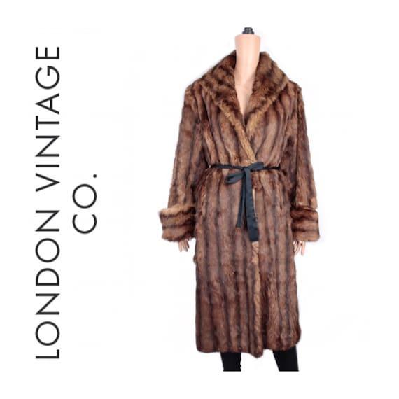 1950s-1960s brown rabbit fur coat {Vintage fur coa