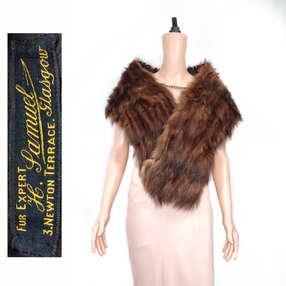 1920s brown marten fur stole {Vintage fur/real fur