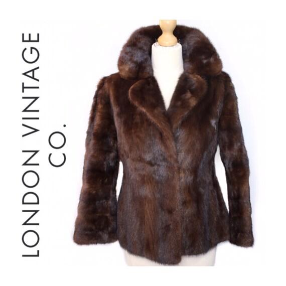 Vintage mink fur coat.Mink fur jacket.hourglass fu