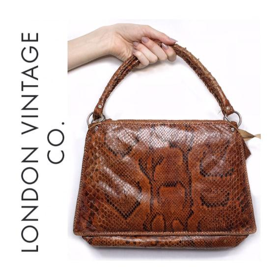 Vintage snakeskin bag/python skin bag. Vintage pur