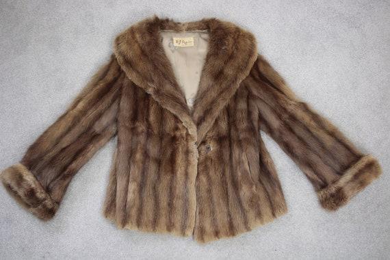 1950s-1960s brown musquash fur coat {Vintage fur … - image 6