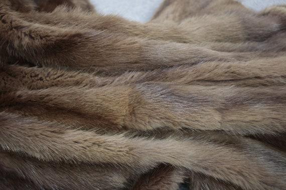1950s-1960s brown musquash fur coat {Vintage fur … - image 9