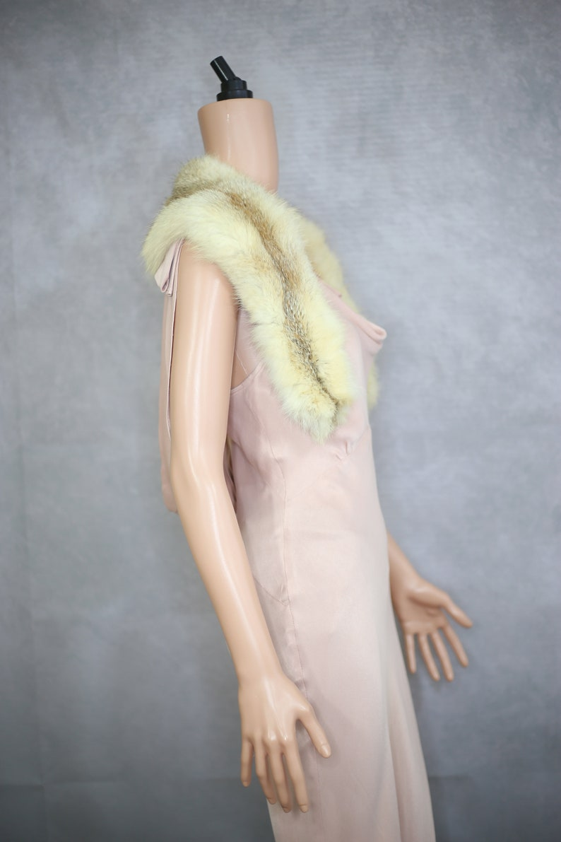 Vintage blonde fox fur collar {Vintage fox furreal fox furfox fur trimfox fur stolefox fur scarfred fox furfur coat collar}