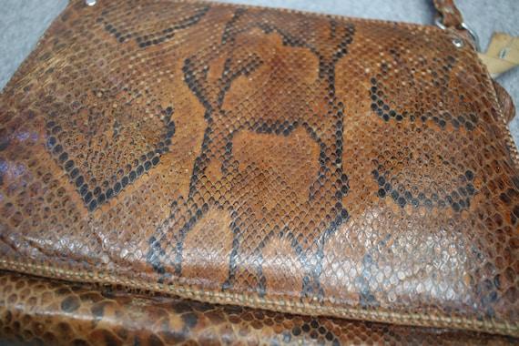 Vintage snakeskin bag/python skin bag. Vintage pu… - image 6