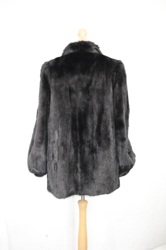 1980s-1990s black mink fur coat {Vintage mink fur… - image 4