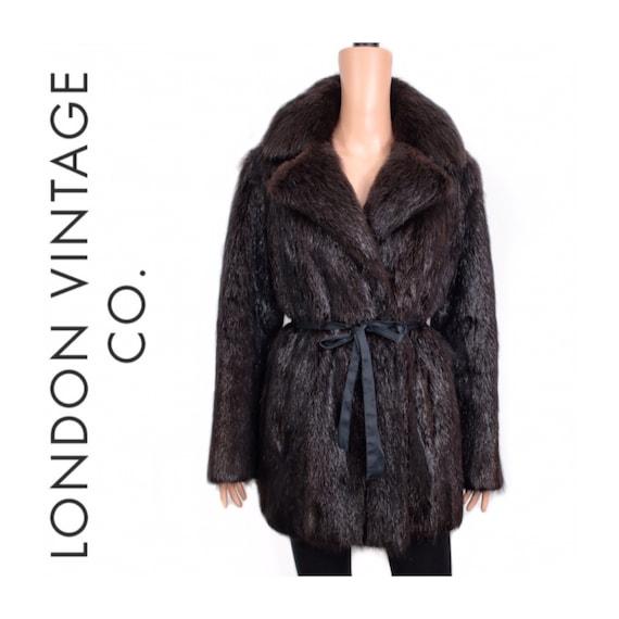 1960-1970s black beaver fur coat {Vintage fur/real