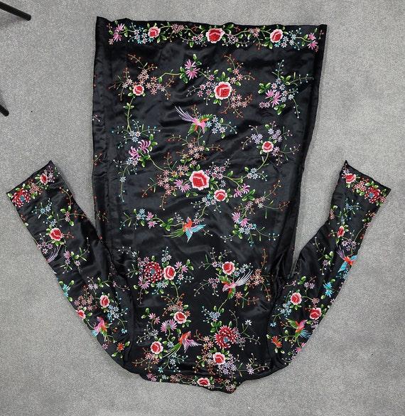 Vintage black embroidered coat {vintage embroider… - image 9