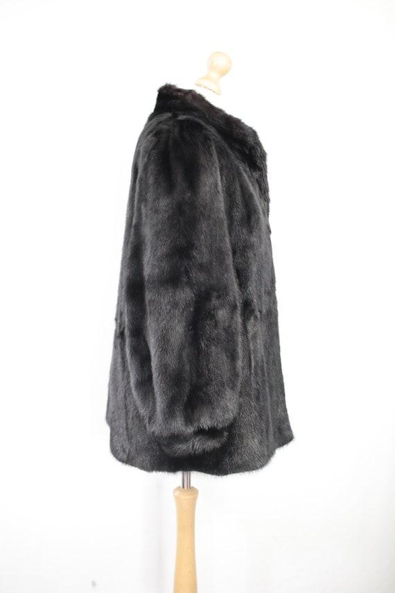 1980s-1990s black mink fur coat {Vintage mink fur… - image 3