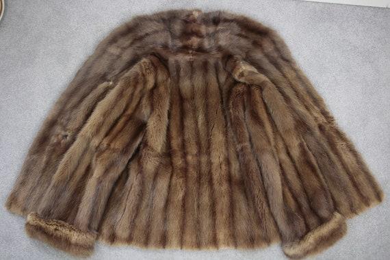 1950s-1960s brown musquash fur coat {Vintage fur … - image 8