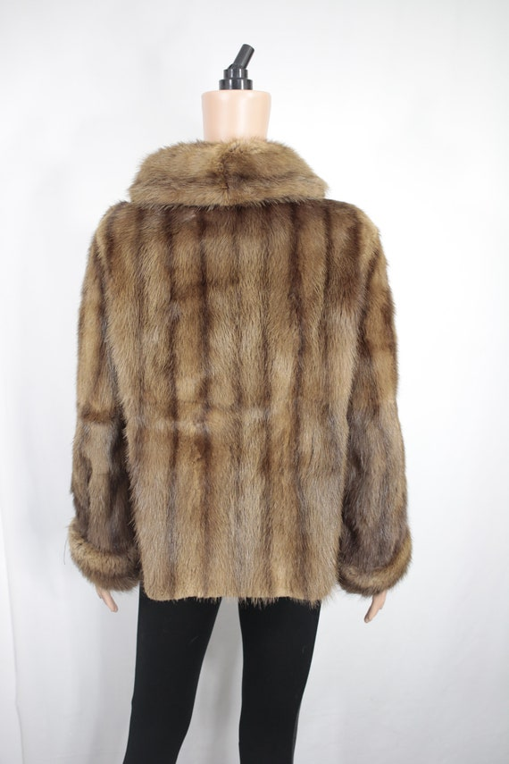 1950s-1960s brown musquash fur coat {Vintage fur … - image 5