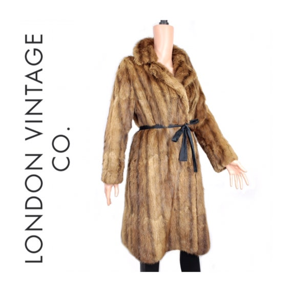 1970s musquash fur coat {Real fur/vintage fur/fur